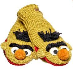 Bert mittens! Bert Sesame Street, Hats For Men, Cool Gifts, Tigger, Mittens, Funny Tshirts, Old School, Graphic Tees, Cool Stuff