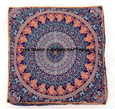 Indian Mandala Floor Pillow Square Ottoman Pouf Daybed Oversized Cushion Cover Cotton Seating Ottoman Poufs Dog / Pets Bed Sold By Handcraft-Palace: Amazon.co.uk: Kitchen & Home
