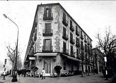 Barrio de Pozas, desaparecido. Este espacio lo ocupa actualmente El Corte Inglés de Princesa