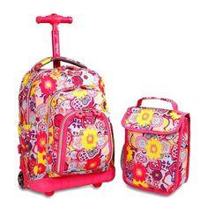 bb2ee3e99af9 J World Lollipop Rolling Backpack w  Lunch Bag