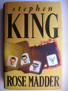 "The novel ""Rose Madder"" by Stephen King was published for the first time in 1995. Cover illustration by Bob Warner for a British edition. Click to read a review of this novel!"