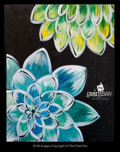 Dahlias Painting - Jackie Schon, The Paint Bar