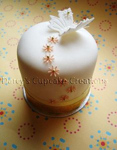 butterfly white mini cake side by Darcy's Cupcake Creations, via Flickr