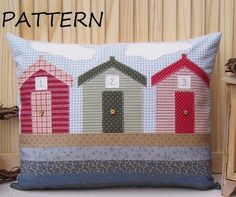 PATTERN - Prim Linz Beach Huts Cushion Pattern  £3.50