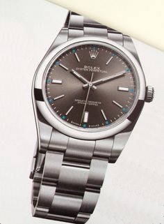 Rolex Oyster Perpetual, steel. I couldn't find this dial on the Rolex website. £3750.