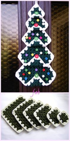 Vintage Granny Square Christmas Tree Free Crochet Pattern-Video – 37 super easy diy christmas crafts ideas for kidslaser cut ornament wooden christmas tree ideacardigan as square for beginners size all oversize… Knitted Christmas Decorations, Crochet Christmas Wreath, Christmas Tree Pattern, Christmas Crochet Patterns, Holiday Crochet, Christmas Knitting, Christmas Crafts, Christmas Ideas, Vintage Christmas