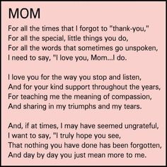 My momma ❤ I never let her know enough!!