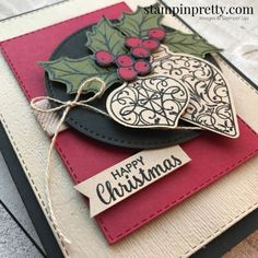 christmas cards Create this Happy Christmas Card using the Christmas Gleaming Bundle from Stampin Up! Card created by Stampin Pretty, Mary Fish Homemade Christmas Cards, Merry Christmas Card, Stampin Up Christmas, Christmas Cards To Make, Xmas Cards, Handmade Christmas, Holiday Cards, Christmas 2019, Disneyland Christmas