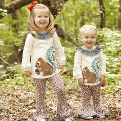 Squirrel Tunic and Legging by Mud Pie