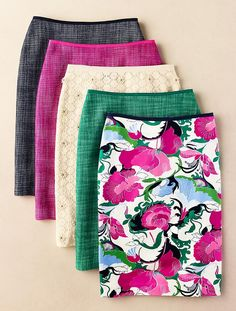 Absolutely beautiful pencil skirts. I could dress them up or down. The choice would be endless. I love em !!!
