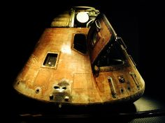"Apollo capsule, Kitty Hawk, photo by Diego Rios.  The Apollo 14 capsule, ""Kitty Hawk"" at the Kennedy Space Center, FL. What a learning experience during our visit to the Kennedy Space Center."