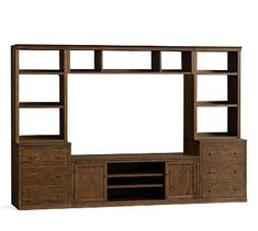 Small Media Suite With Drawer Bookcases U0026 Bridge, Hewn Oak Media Furniture,  Furniture Upholstery