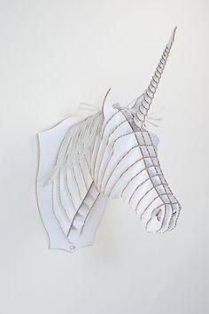cabeza unicornio trofeo