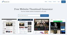 Thum.io provides real-time desktop and mobile screenshots of websites. We are the only website screenshot generator to live stream thumbnails. Try it for free!
