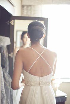 Wraparound Chignon Wedding Hairstyle