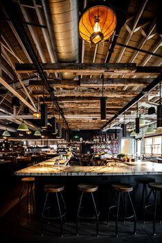 Art Restaurant, Restaurant Design, Wine Bar Design, Barcelona Wine Bar, Project Purple, Bike Shed, Bar Designs, Tap Room, Bar Ideas