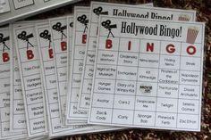 hollywood bingo -- idea but NOT A PRINTABLE