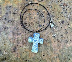 17.99 + free shipping Hawaiian cross Unique Cross necklace free shipping by GospelHymns