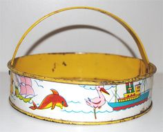Vintage Tin Toy Sand Sifter with Bright by TheBarnatBelMarFarm