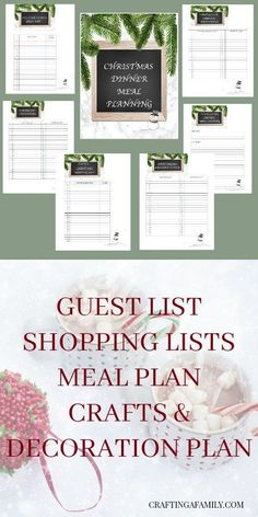 Free Printable Christmas Planner. For all your Christmas and Holiday intertaining, dinner parties or just family gathering, plan ahead with a menu planner and a party plan. Set your mind at ease and never forget the details that make your party specail.