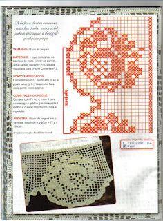 Filet Crochet, Crochet Borders, Crochet Chart, Crochet Doilies, Crochet Flowers, Crochet Lace, Crochet Patterns, Crochet Edgings, Lace Border
