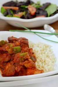 Easy Delicious Sausage Gumbo for the crockpot. The BEST sausage gumbo recipe you will find hands down.