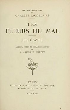 nature-and-culture: Charles Baudelaire,(1821 – 1867) was aFrench poetwho also produced notable work as an essayist,art critic, and pioneeringtranslatorofEdgar Allan Poe. His most famous work,Les Fleurs du mal(The Flowers of Evil), expresses the changing nature of beauty in modern, industrializing Paris during the 19th century.