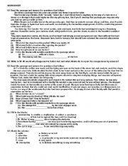 English worksheet: worksheet on The Gift Of the Magi by O´Henry