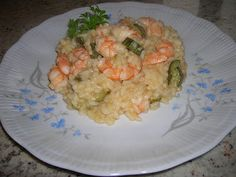 Prawn and courgettes risotto