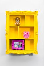 Baroque Wall Shelf in Yellow at Urban Outfitters