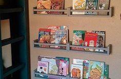Ikea spice rack as book shelves