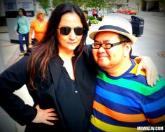 Kelly Cutrone and me.