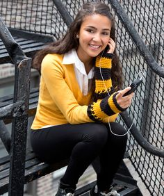 You can text the score to all your friends and support your favorite team! Keep your hands warm but your fingers free with these cozy crocheted wristers.