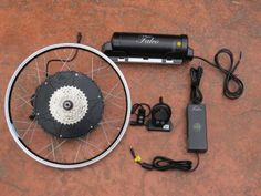This is the Falco e-Motors electric bike kit that is being installed on the Xtracycle Edgerunner cargo bike. The Falco kit includes a 500 watt motor, 36V 11.6ah lithium battery and a wireless display! Here is more information on the kit: http://www.falcoemotors.com/?page_id=1807