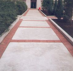 Paving & Patio Installation by Brandon Landscape - Pittsburgh's . Stamped Concrete Driveway, Brick Driveway, Driveway Design, Concrete Driveways, Front House Landscaping, Modern Landscaping, Outdoor Landscaping, Brick Porch, Brick Patios