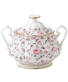 Rose Confetti Vintage Sugar Bowl, Royal Albert