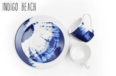 Indigo Beach by Noritake. #tiedye #tie-dye #dinnerware #mixandmatch #noritake #blue #indigo #tablescapes http://noritakechina.com/indigobeach.html