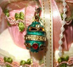 Green Faberge Egg Pendant