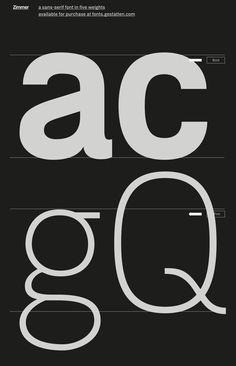 Zimmer typeface on Behance