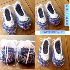 DIY | Crochet Pattern | Slippers | PDF #etsy #slippers #shoes