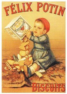 Images d'autrefois: Publicité ancienne biscuits