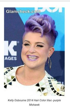 Kelly Osbourne 2014 hair color purplre