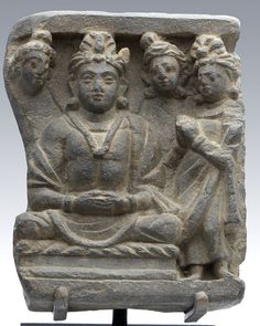 A Gandhara Relief Panel of Bodhisattva with Worshippers, ca 3rd century AD