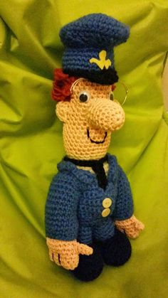 Postman Pat- I crocheted this for my god son