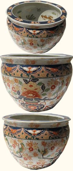Oriental Furnishings - Hand Painted Chinese Porcelain Fish Bowl with Imari Floral Design, $97.00 (https://www.orientalfurnishings.com/hand-painted-chinese-porcelain-fish-bowl-with-imari-floral-design/)