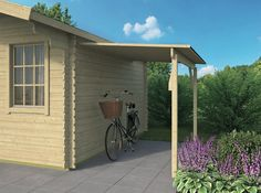 A handy lean to porch for your log cabin, ideal for keeping your bicycle dry or even drying logs for your wood burner. The width is Available in two lengths of and Roof Boards, Porch Canopy, Roofing Felt, Wood Burner, Pergola, Shed, Outdoor Structures, Cabin