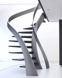Modern Spiral Staircase Architecture Designs For Your Luxury Home Staircase Architecture, Staircase Design, Interior Architecture, Staircase Ideas, Staircase Pictures, Staircase Decoration, Basement Stairs, House Stairs, Stair Layout