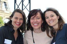 De gauche à droit: Emmanuelle Gagliardi, Corinne Visse organisatrice de la soirée AG2R la Mondiale, Carole Michelon.