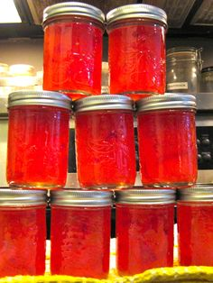 Habanero Peach Jam--sound like a winner--just what I need for all the habeneros in the garden
