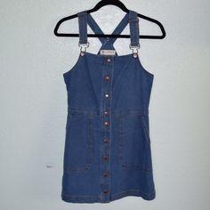 denim overall dress never worn tags still attached! bullhead denim from PacSun denim overall dress PacSun Dresses Mini